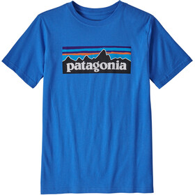 Patagonia P-6 Logo Organic T-Shirt Col Ras-Du-Cou Garçon, bayou blue